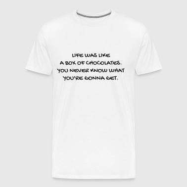 Cinema - Quotes - Film - Citations - Zitat - Humor - Men's Premium T-Shirt