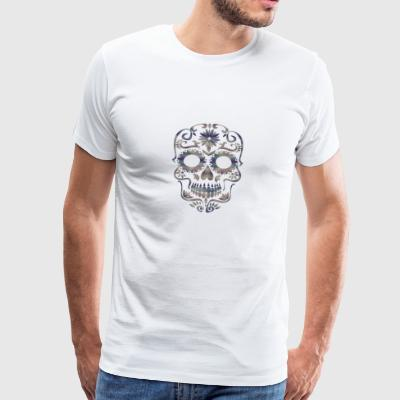 SKULL SUGAR CALAVERA MEXICO DEATH HOLIDAY AMERICA - Men's Premium T-Shirt