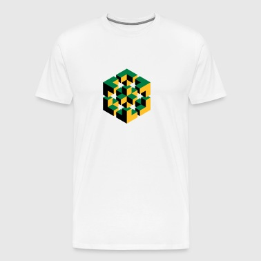 Figure impossible imagination géométrie cube Escher - T-shirt Premium Homme