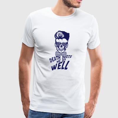 head death hipster quote death suits well knot - Men's Premium T-Shirt