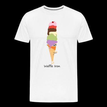 Ice cream waffle and a hot iron - Men's Premium T-Shirt