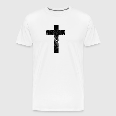 Cross Grunge Cross / Cross - Men's Premium T-Shirt