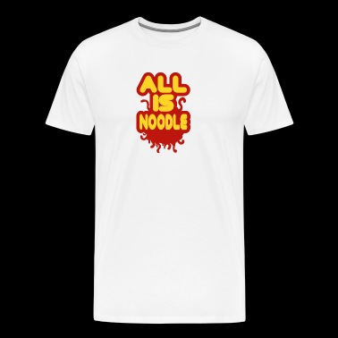 All is noodle Pastafarian Flying spaghetti monster - Men's Premium T-Shirt