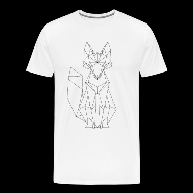 Fox polygon design - Men's Premium T-Shirt