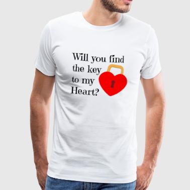key to my heart - Men's Premium T-Shirt