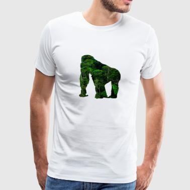 Monkey Animal Jungle Gem Rainforest Gift - Herre premium T-shirt
