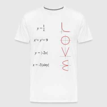 All you need is love math - Men's Premium T-Shirt