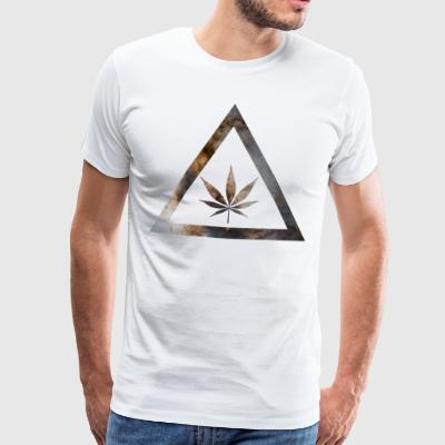Galaxy Weed Cannabis Geometry Triangle - Premium-T-shirt herr