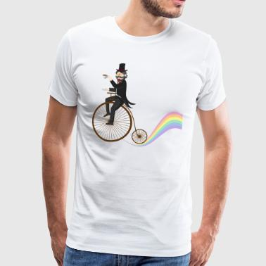 Wheel Rainbow Teatime - Premium T-skjorte for menn