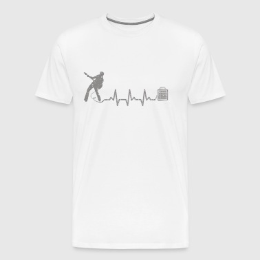 My heart beats for playing the guitar - Men's Premium T-Shirt