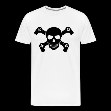 Gamer Skull (Black) - Premium-T-shirt herr