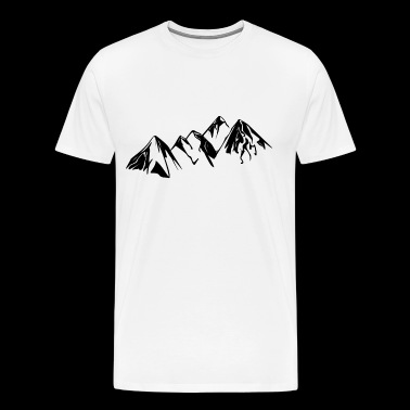 Mountain landscape - Men's Premium T-Shirt