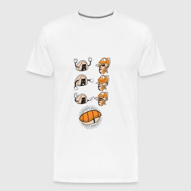 Sushi Evolution Funny Fish Rice Association - Mannen Premium T-shirt