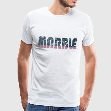 Marble Fashion Trend buzzword optikk gaveide - Premium T-skjorte for menn