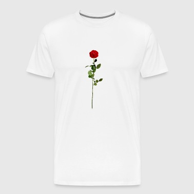 Rose with stem - Men's Premium T-Shirt