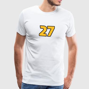27 Twenty-Seven Magic Number Feng Shui Numeral - Men's Premium T-Shirt