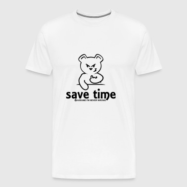 save time (1c) - Men's Premium T-Shirt