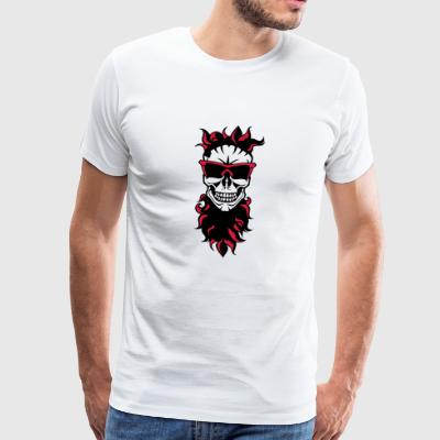 dead head hipster bearded beard halloween 1910 - Men's Premium T-Shirt