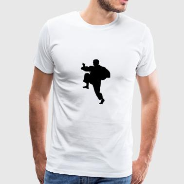Kung fu fighter silhouette 3 - T-shirt Premium Homme