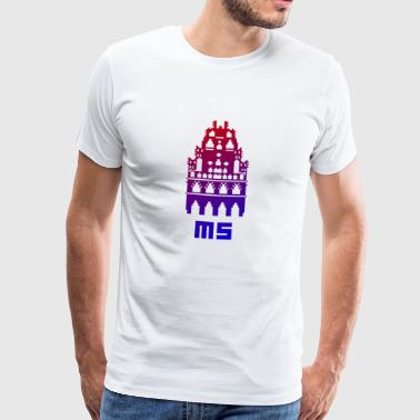 MS Modern Pixel Art - Men's Premium T-Shirt