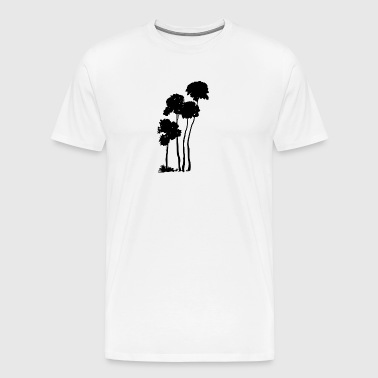 Palm trees silhouette - Men's Premium T-Shirt