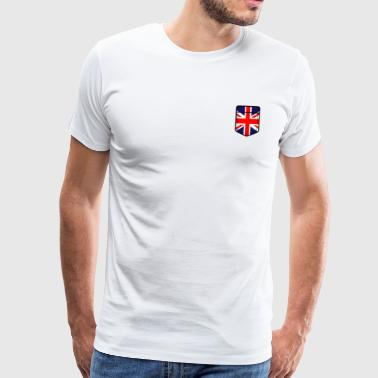 Storbritannien England flag engelsk London UK - Herre premium T-shirt