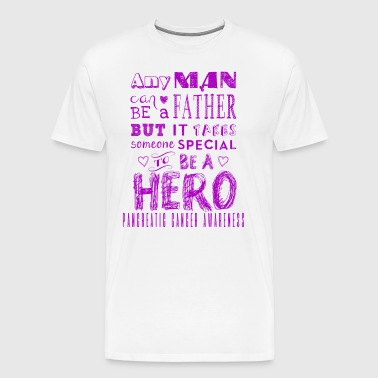 Pancreatic Cancer Awareness: Dad is a Hero! - Men's Premium T-Shirt