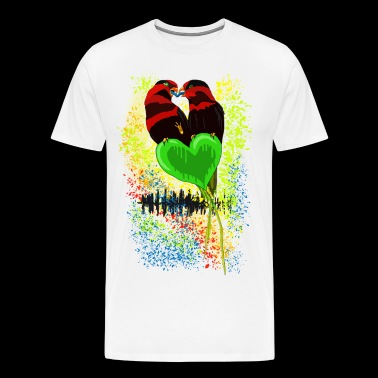 'Love 'n' Music' by BlackenedMoonArts - Herre premium T-shirt