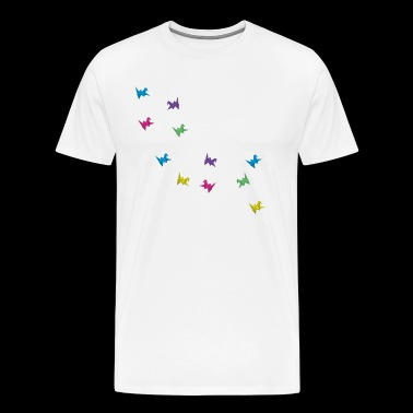 Origami birds - Men's Premium T-Shirt
