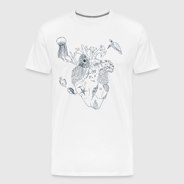Heart of the Sea (Lineart) - Men's Premium T-Shirt