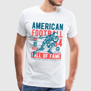Football American Ball College Sports Touchdown USA - T-shirt Premium Homme