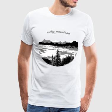 rocky mountains - Männer Premium T-Shirt