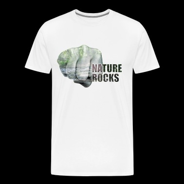 Nature Rocks Fist Bump Emoji - T-shirt Premium Homme