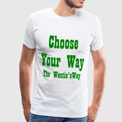 Choose Your Way Green - Men's Premium T-Shirt