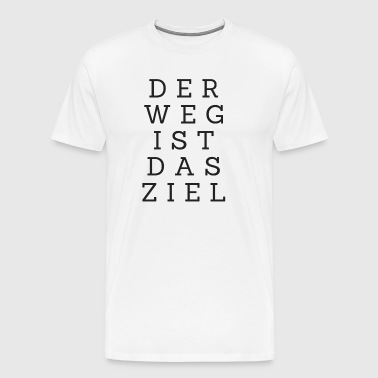De reis is de beloning - Mannen Premium T-shirt