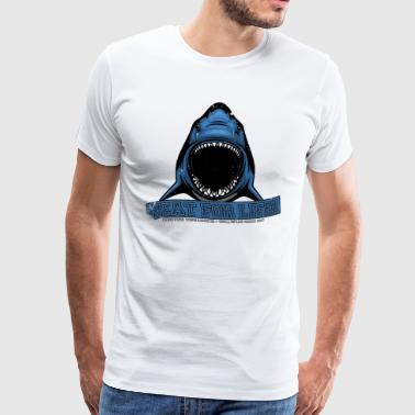 Meat for life - Shark Hai Jaws - Vintage Premium G - Männer Premium T-Shirt
