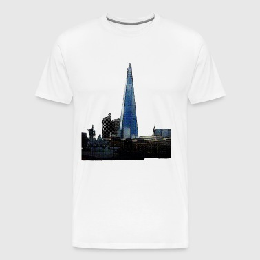 London Shard mit HMS Belfast - Männer Premium T-Shirt