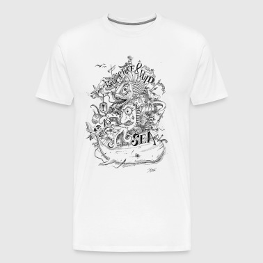 Brave_and_Free.png - Männer Premium T-Shirt