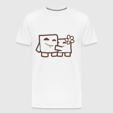 Super Cube Boy & Bandage Girl  ( In Love ) - Männer Premium T-Shirt