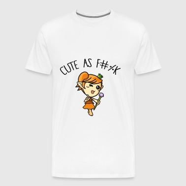 Cute as fuck - Mannen Premium T-shirt
