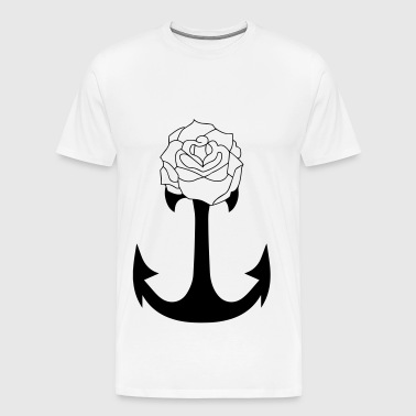 Ancre & Rose Tattoo - Männer Premium T-Shirt