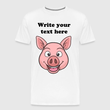 Mr Delighted Pig - Men's Premium T-Shirt