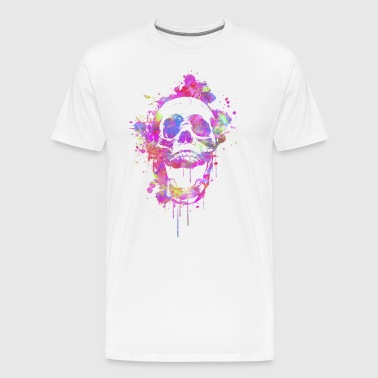 Cool & Trendy Abstrait Watercolor Skull - T-shirt Premium Homme