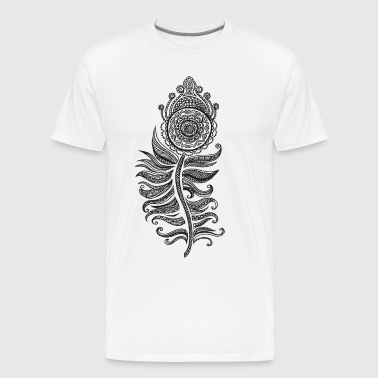Indian Henna Flower black - Men's Premium T-Shirt