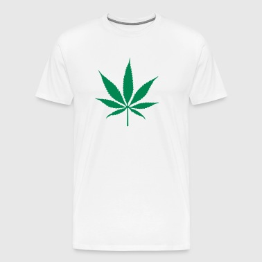 weed leaf - Men's Premium T-Shirt