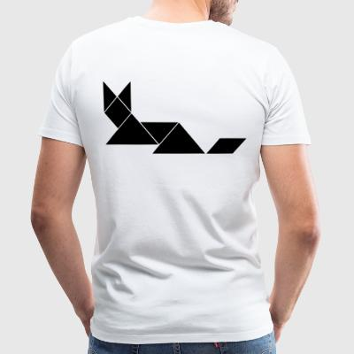 fox tangram - Premium T-skjorte for menn