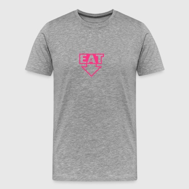 Arrow Pointing Down Eat - Men's Premium T-Shirt