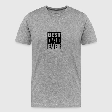 Best Dad Ever Logo-Design - Premium T-skjorte for menn