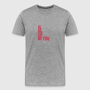Be Different Be You Logo - Men's Premium T-Shirt
