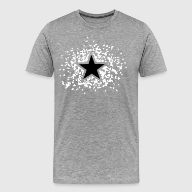 Star Negative Filled 2C - Männer Premium T-Shirt